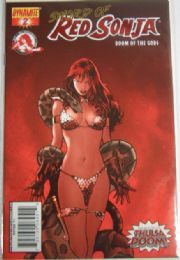 Red Sonja Doom of the Gods #2 Fiery Red Foil Variant Ltd 225 COA Dynamite comic book